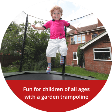Fun for children of all ages with a garden trampoline