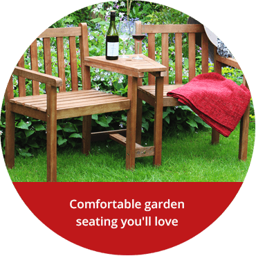 Comfortable garden seating you'll love