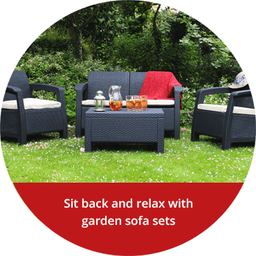 Sit back and relax with garden sofa sets