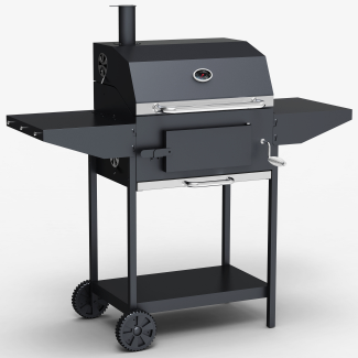 Kentucky Smoker BBQ - Charcoal American Grill Outdoor Barbecue With Chimney