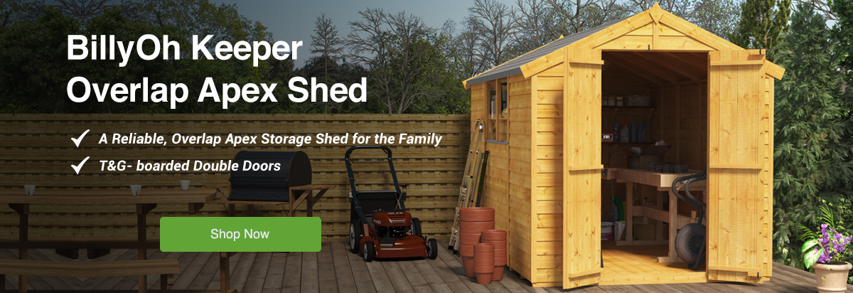 BillyOh Keeper Apex Wooden Shed