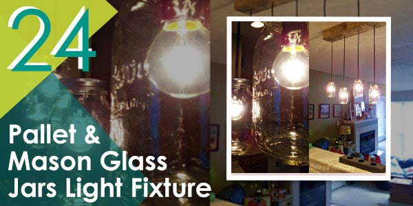 Pallet and Mason Glass Jars Light Fixture