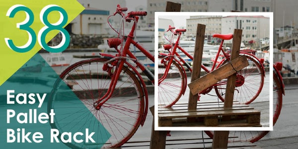 Easy Pallet Bike Rack