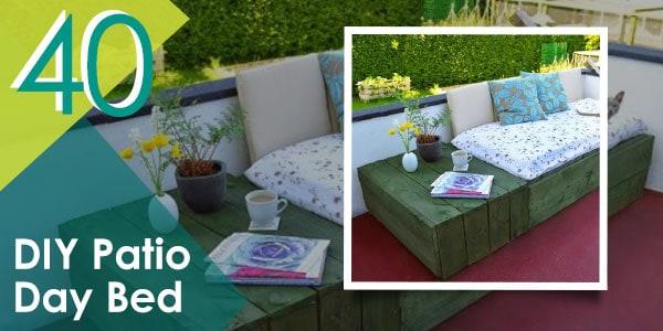 DIY Patio Day Bed
