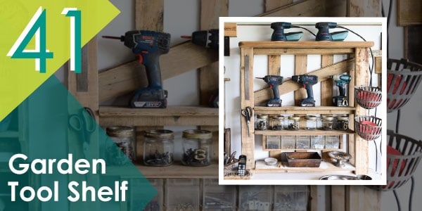 Garden Tool Shelf