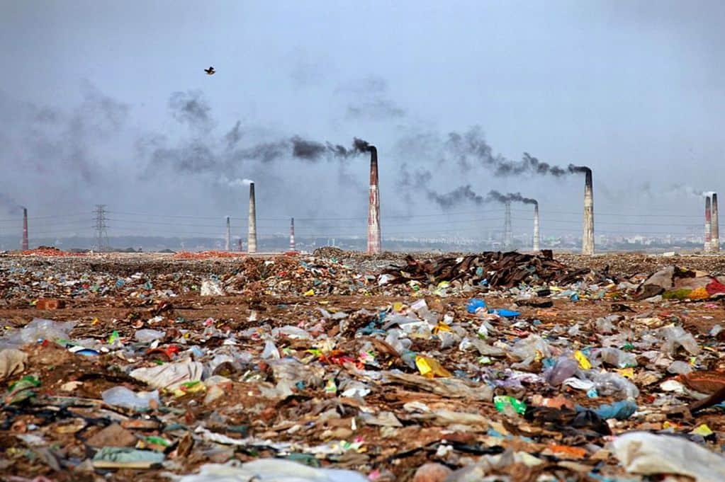 polluted earth