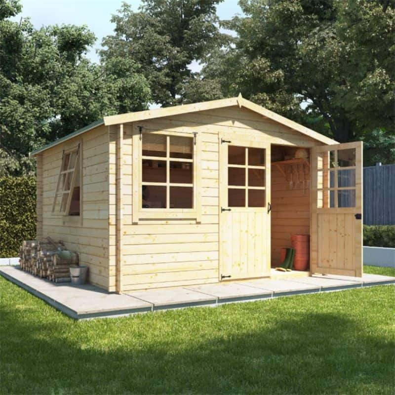 Converting your shed into a garden office - BillyOh Clubman Heavy Duty Shed Log Cabin