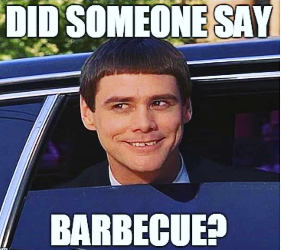 Jim Carey as Harry from Dumb and Dumber BBQ meme