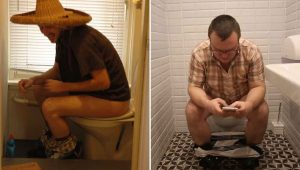 Men Spend Hours Hiding In The Bathroom For 'Peace And Quiet'