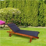 CC - Garden Lounger Cushion - Navy Blue