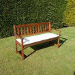 CC - 3 Seat Garden Bench Cushion - Natural