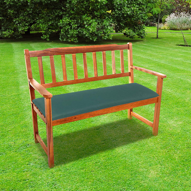 2 Seat Garden Bench Cushion Green Free Delivery