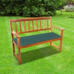 CC - 2 Seat Garden Bench Cushion - Green