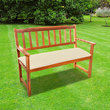CC - 2 Seat Garden Bench Cushion - Natural