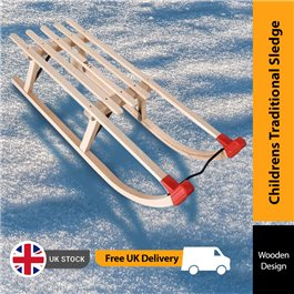 Mad Dash Childrens Traditional Wooden Toboggan Sledge