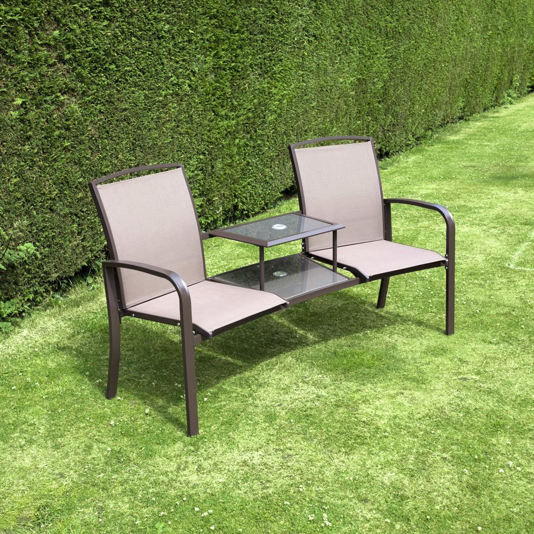 Image of BillyOh Express Textilene Companion Love Seat Garden Bench