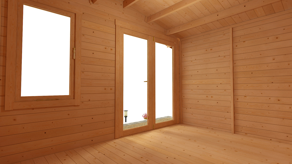 BillyOh Lodge Log Cabin 3.5m x 3.0m Internal Image