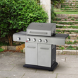 Outback Stainless Steel Gas BBQ - 4 or 6 Burner with Hose & Regulator