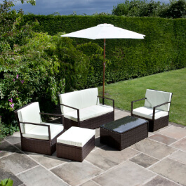 BillyOh Sandringham Rattan Sofa 4 Seater Set - Includes Cushions