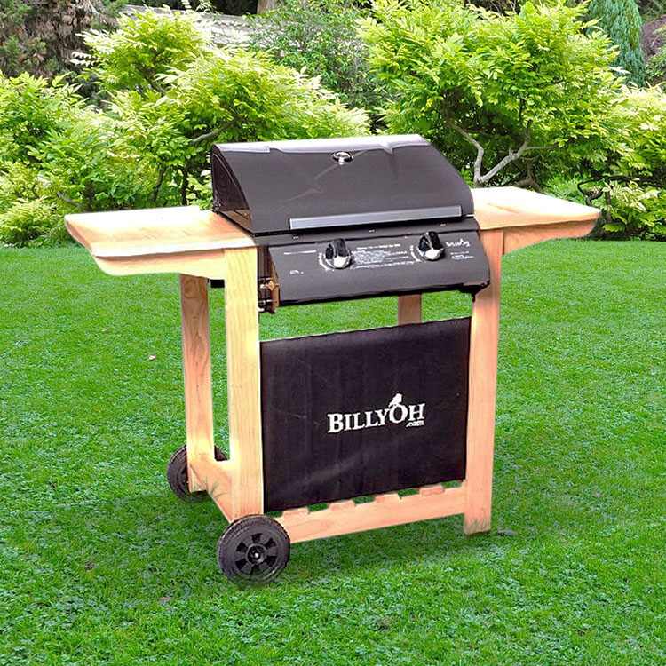 BillyOh Imperial Hooded Gas BBQ - 2 Burner with Hose & Regulator