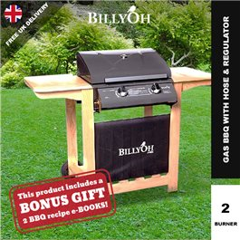 BillyOh Imperial Hooded Gas BBQ - 2 or 3 Burner with Hose & Regulator