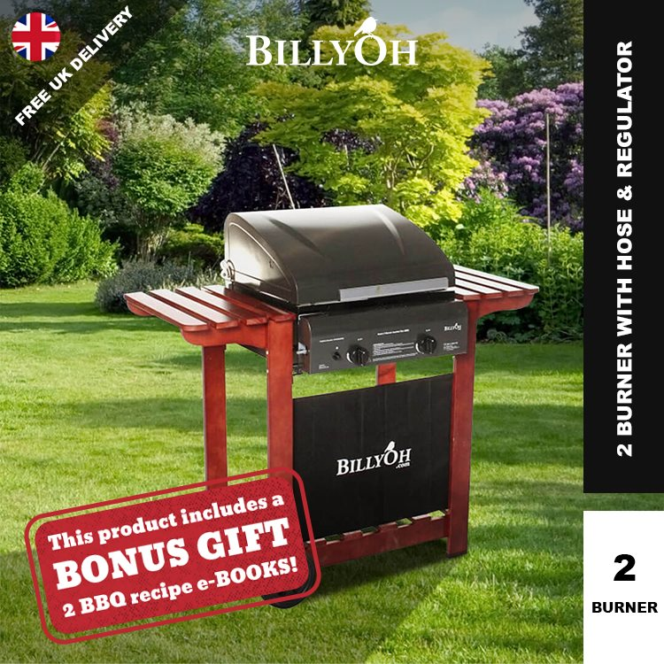 BillyOh Acorn Hooded Gas BBQ - 2 or 3 Burner with Hose & Regulator