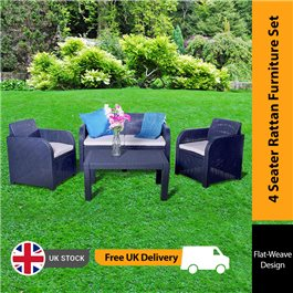 Keter Allibert Carolina 4 Seat Lounge Set - Includes Cushions