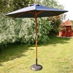BillyOh Aluminium Crank and Tilt Wood Effect Parasol - Navy Blue