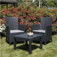 Keter Allibert Rosario Montana Tea for Two - Includes Cushions