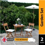 BillyOh Windsor 0.7m Square Bistro Set - 2 Seat set with Folding Chairs