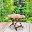 windsor garden table 1m octagonal folding