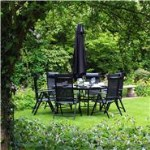 BillyOh Comfort 6 Seater Round Metal Garden Furniture Set