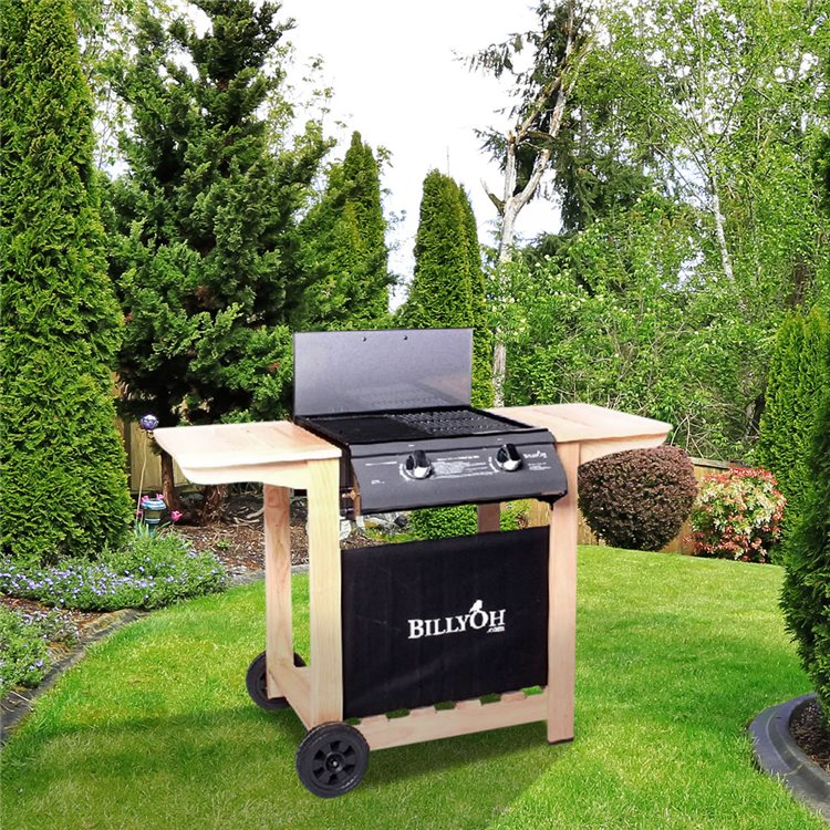BillyOh Imperial Flat Bed Gas BBQ - 2 Burner with Hose & Regulator