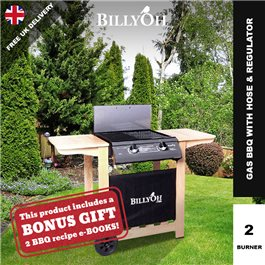BillyOh Imperial Flat Bed Gas BBQ - 2 or 4 Burner with Hose & Regulator