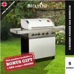 BillyOh Prestige Gourmet 5 Burner Grillstream Hooded Gas BBQ