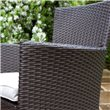 BillyOh Rosario Flat Weave Bistro 4 Seater Set with Optional Parasol