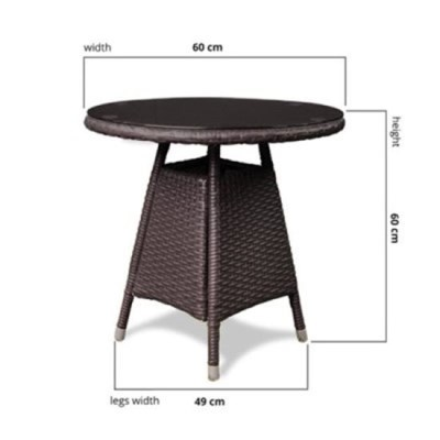 rattan round table the elegant round table is constructed using