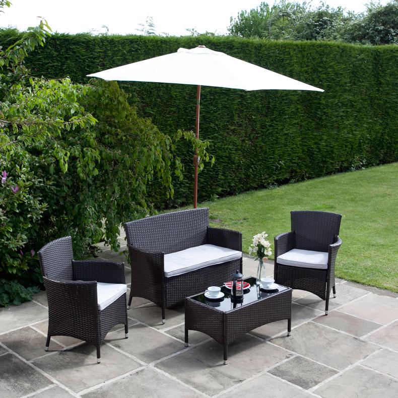 BillyOh Rosario 4 Seat  ic Rattan Lounge Set Garden Furniture
