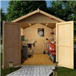 BillyOh Log Cabin Windowless Heavy Duty Shed Range 10x8 Tongue and Groove Shed with Optional Tongue and Groove Floor