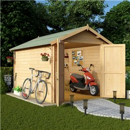 BillyOh Apex Log Cabin Windowless Heavy Duty Shed Range