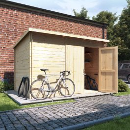 BillyOh Pent Log Cabin Windowless Heavy Duty Bike Store Range