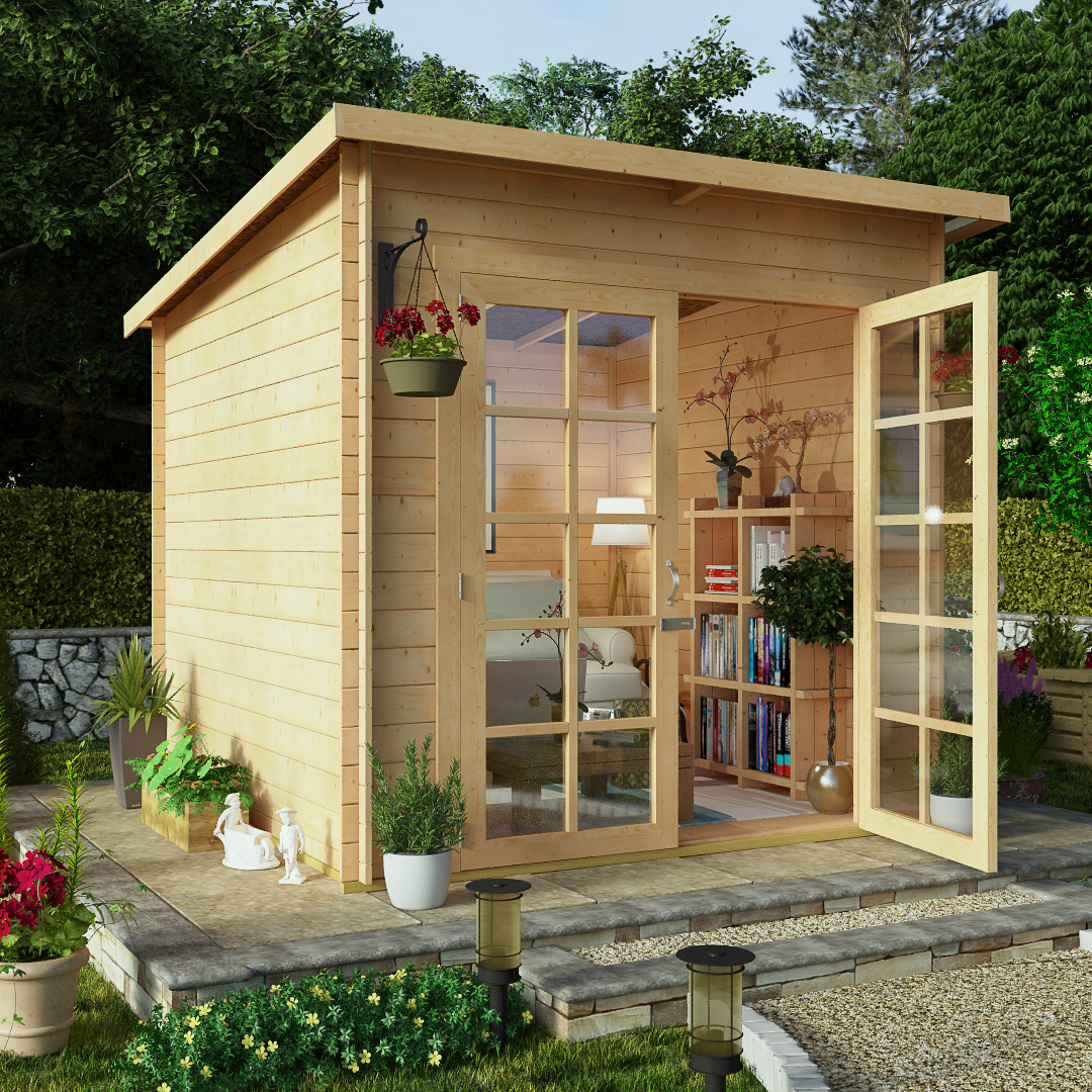 Wonderful Garden Summerhouses From The Gardening Website With Magnificent Billyoh  X  Pent Log Cabin Summerhouse Mm Central Doors With Amusing Spring Gardens Post Office Also Coloured Gravel For Gardens In Addition Savill Garden Restaurant And Shops In Welwyn Garden City As Well As Stratford Upon Avon Garden Centre Additionally Garden Centre Near Newcastle Airport From Thegardeningwebsitecouk With   Magnificent Garden Summerhouses From The Gardening Website With Amusing Billyoh  X  Pent Log Cabin Summerhouse Mm Central Doors And Wonderful Spring Gardens Post Office Also Coloured Gravel For Gardens In Addition Savill Garden Restaurant From Thegardeningwebsitecouk