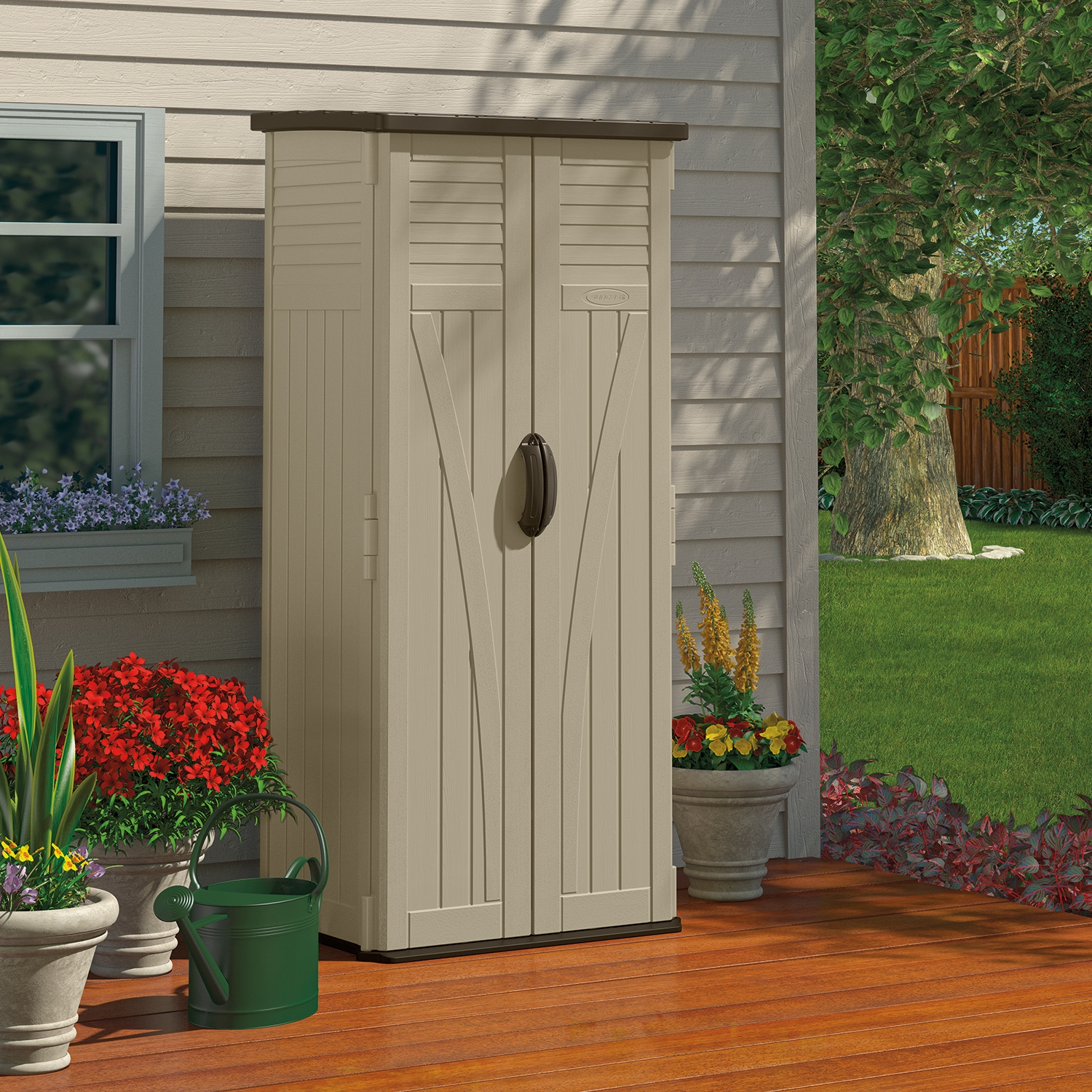 Image of BillyOh Suncast 22 ft Vertical Plstic Storage Shed