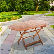 BillyOh Windsor Garden Table - 1.4m Oval Folding