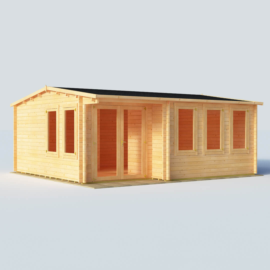 Image of BillyOh Kent Log Cabin Office W5.5m x D5.0m 44mm