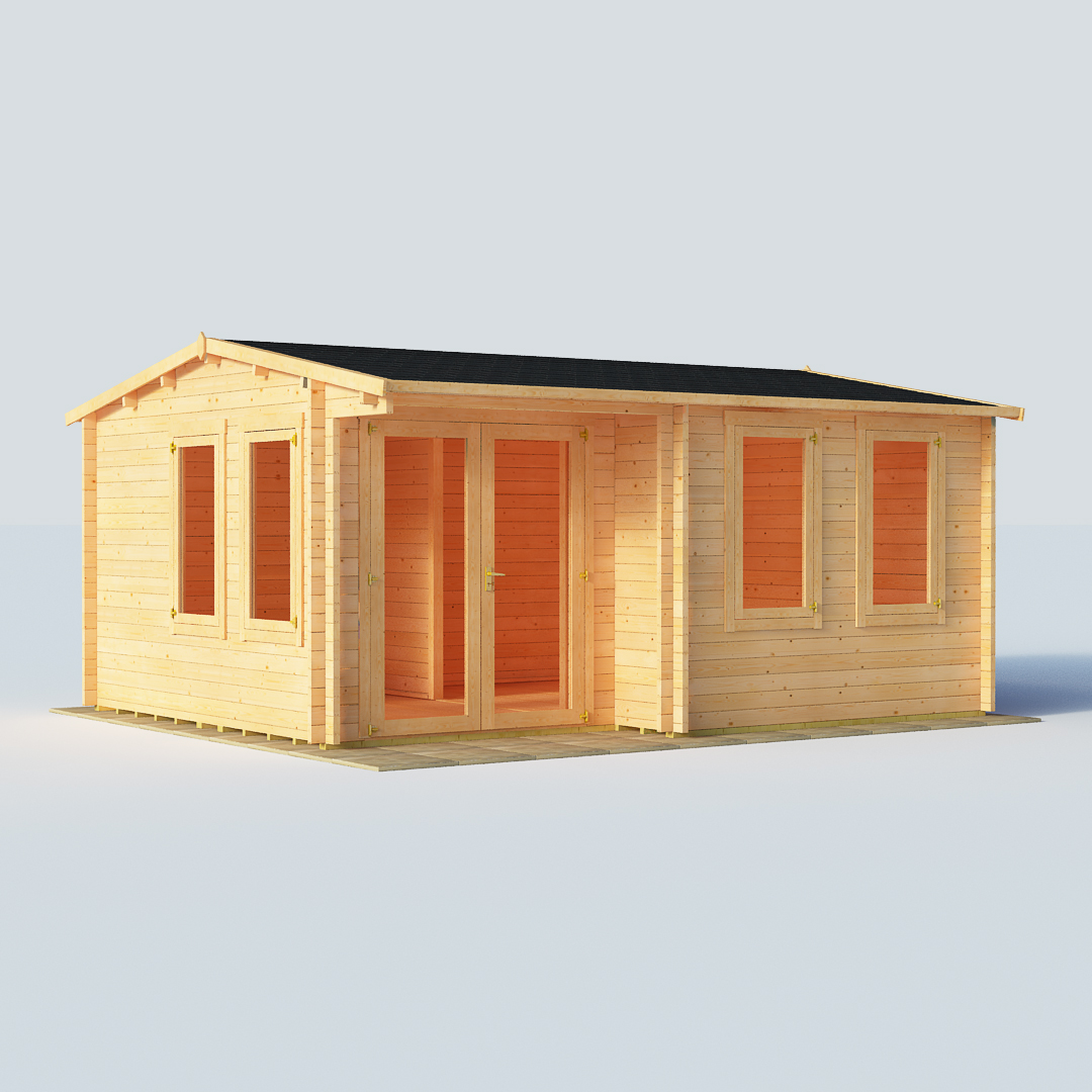 Image of BillyOh Kent Log Cabin Garden Office W5.0m x D4.0m 28mm