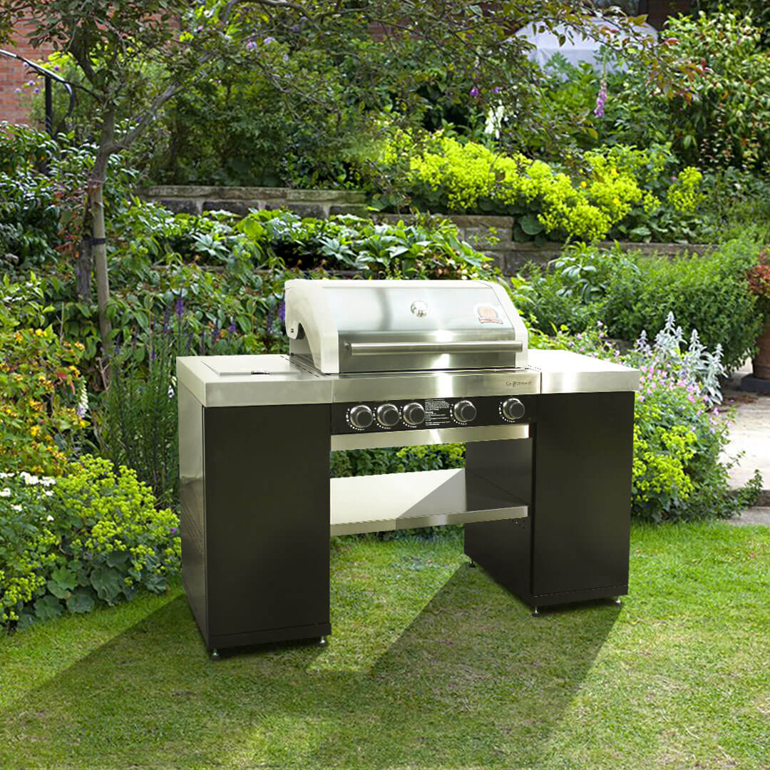 Image of BillyOh Island 4 Burner Grillstream Gas BBQ with Side Burner