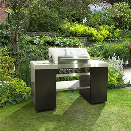 BillyOh Island 4 Burner Grillstream Gas BBQ with Side Burner