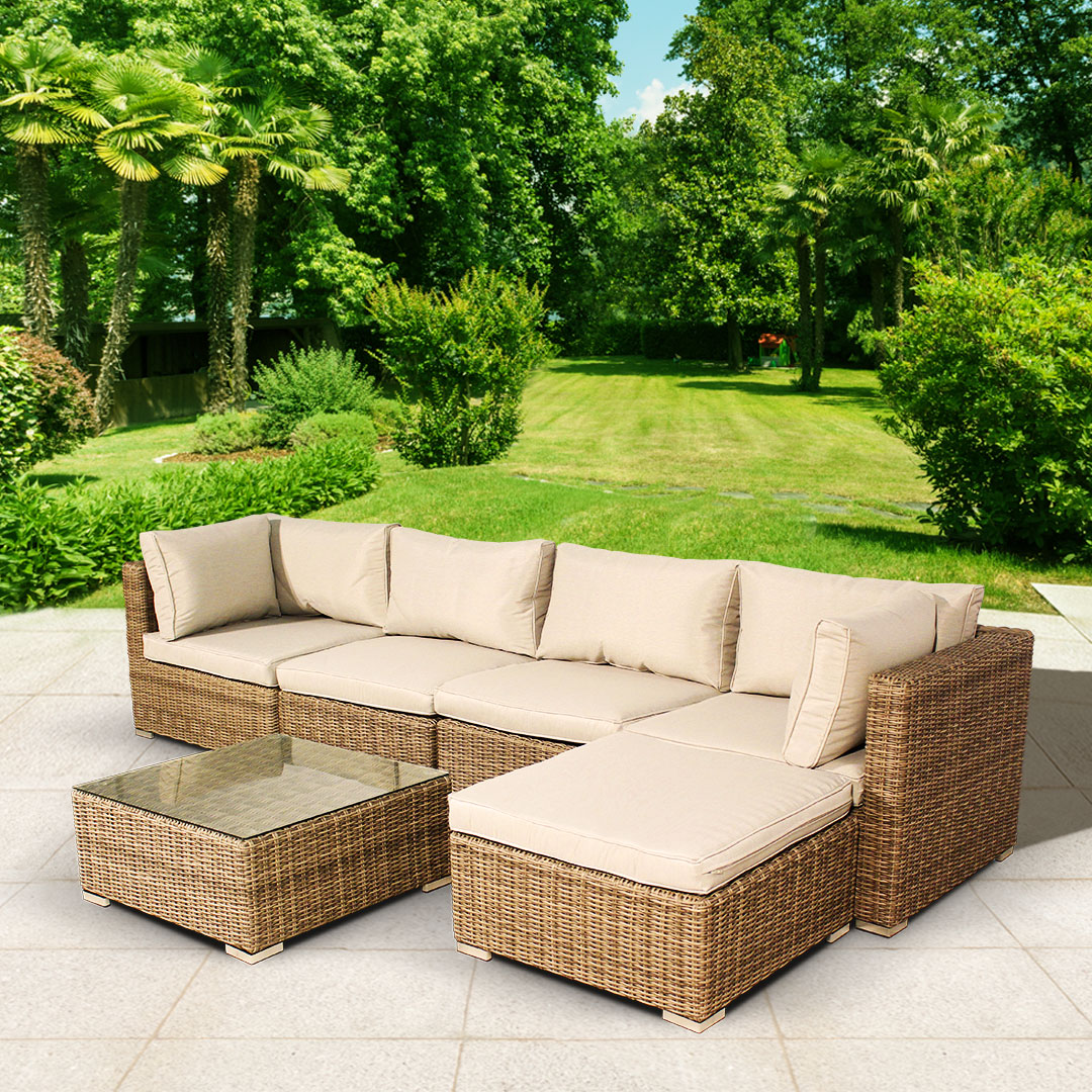 BillyOh Sala 5 Seat Rattan Corner Sofa Set