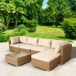 BillyOh Sala Natural 5 Seat Rattan Corner Sofa Set